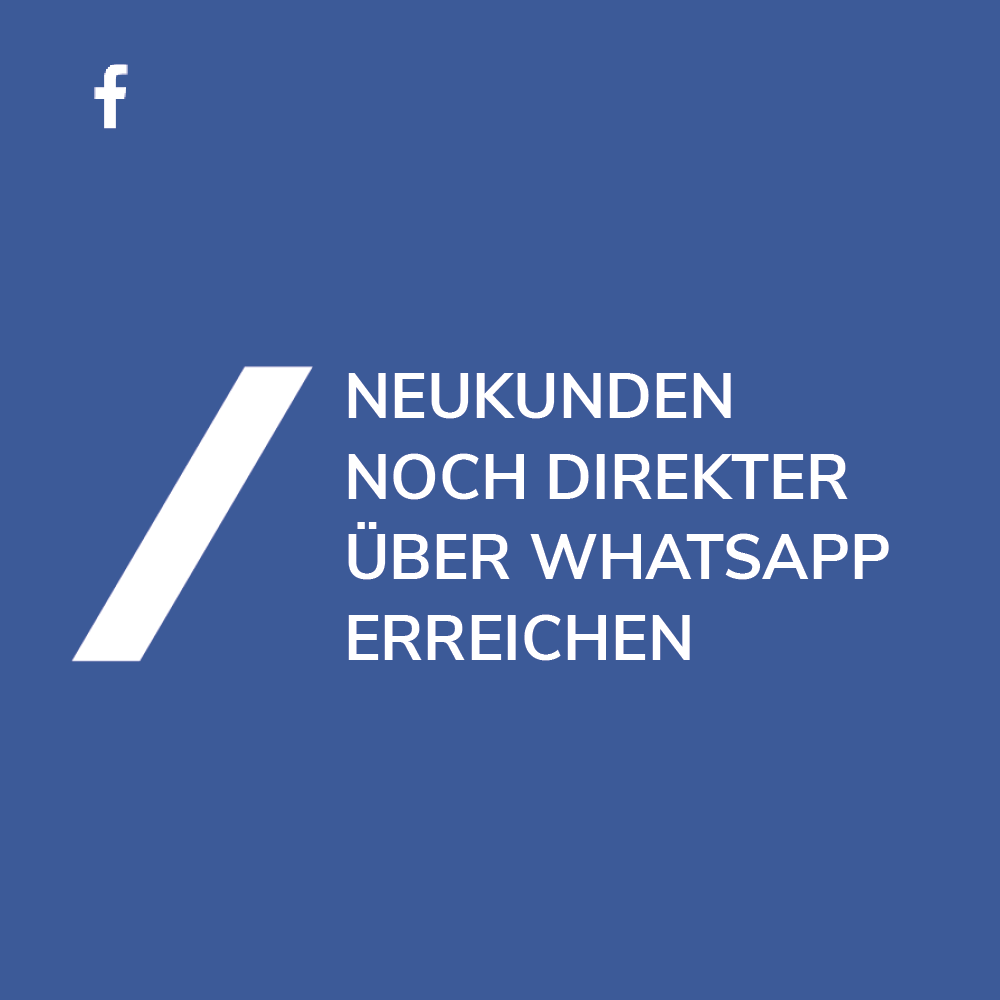 Whatsapp Marketing mit Facebook