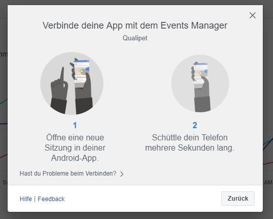 Facebook SDK: App und Events Manager verbinden