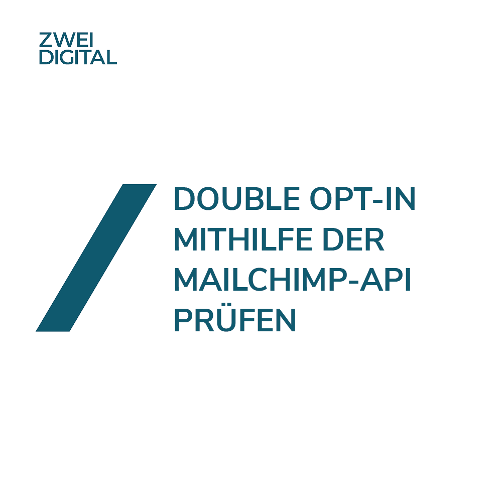 Mailchimp Double Opt-In