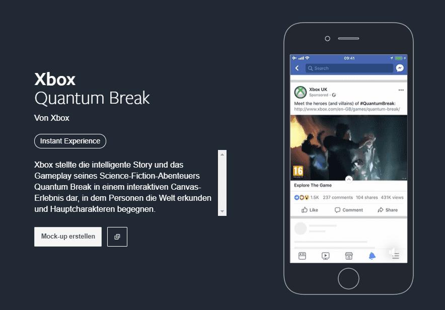Facebook Creative Hub Werbekampagne