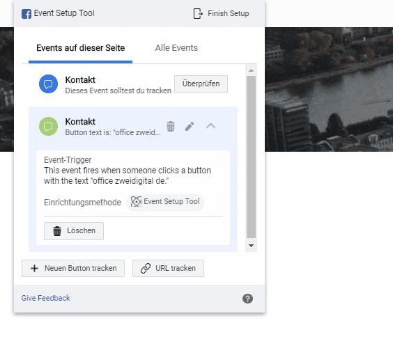 Kontakt Event für Facebook Pixel