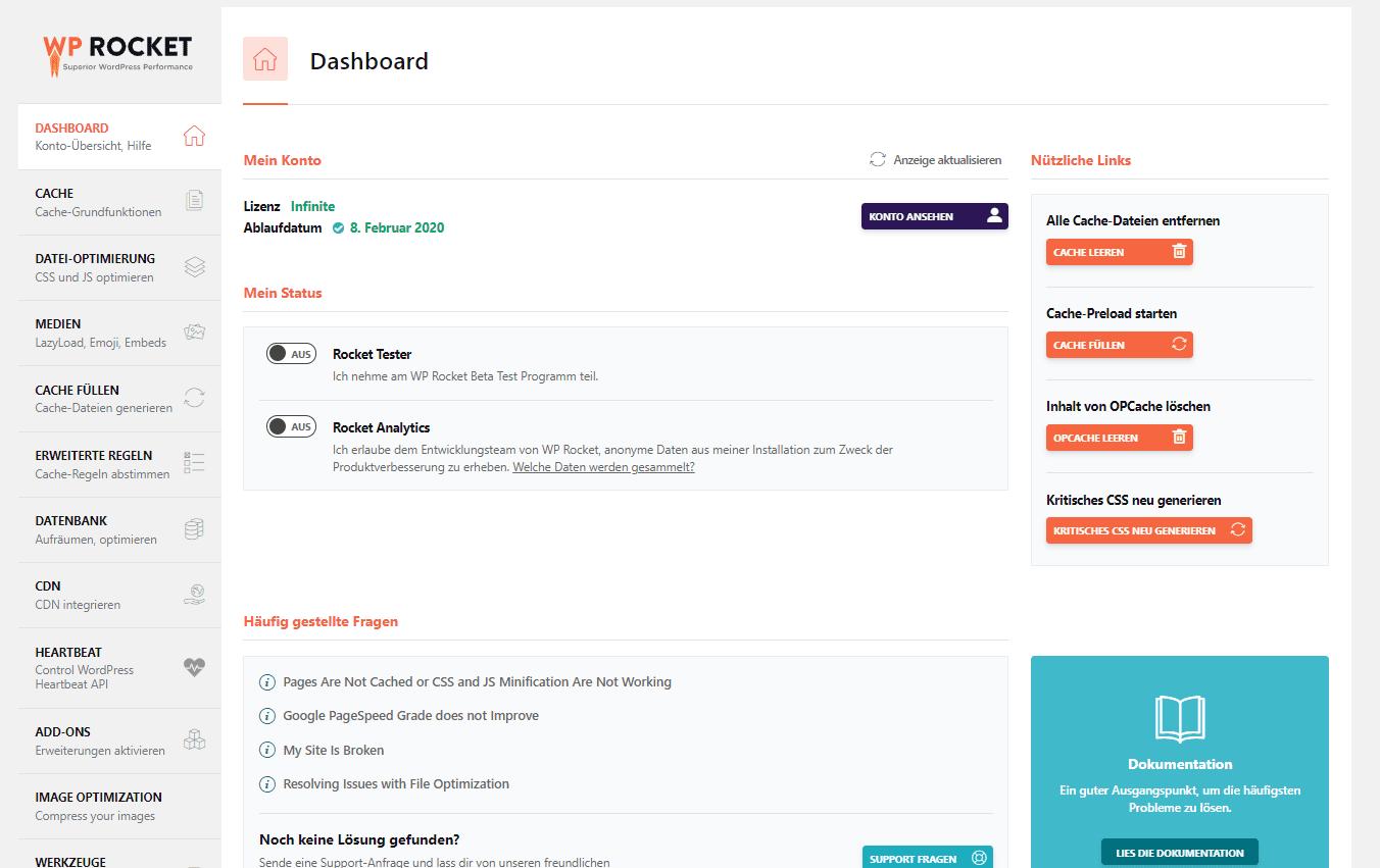Wordpress Performance Cache nutzen