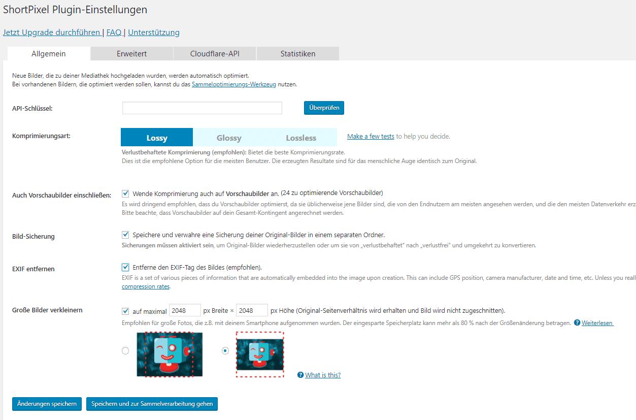 Wordpress Performance Shortpixel