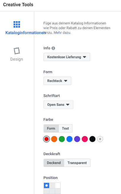 Produktkatalog Facebook optimieren