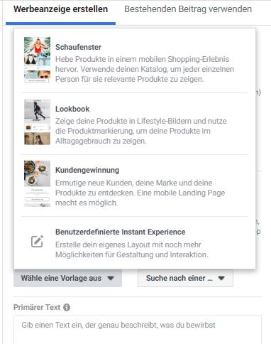 Facebook Schaufenster