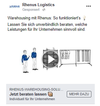 Facebook Remarketing Anzeige generisch