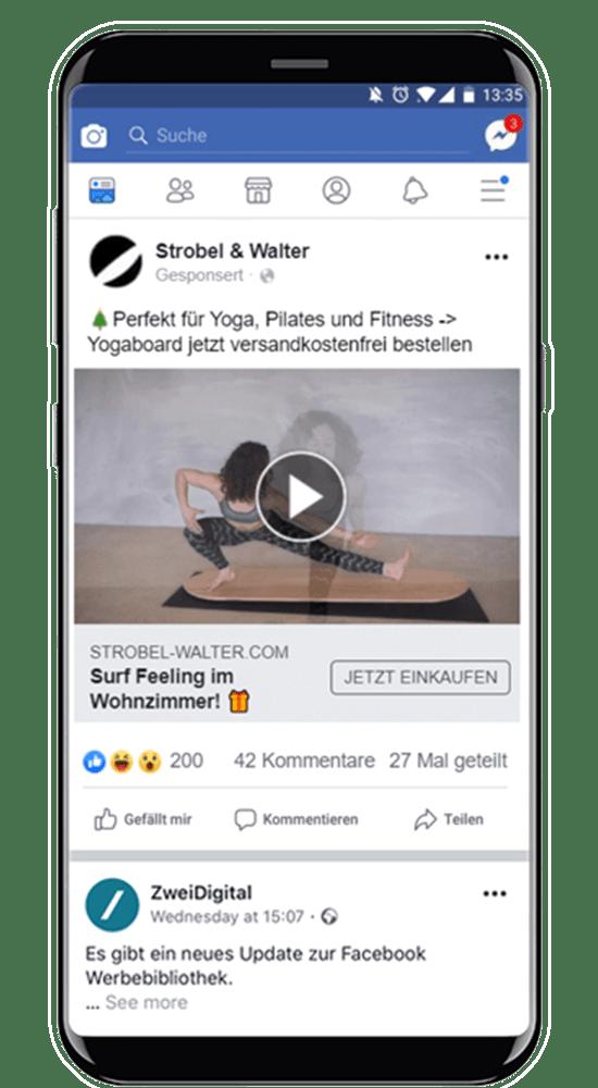 facebook anzeige strobel&walter