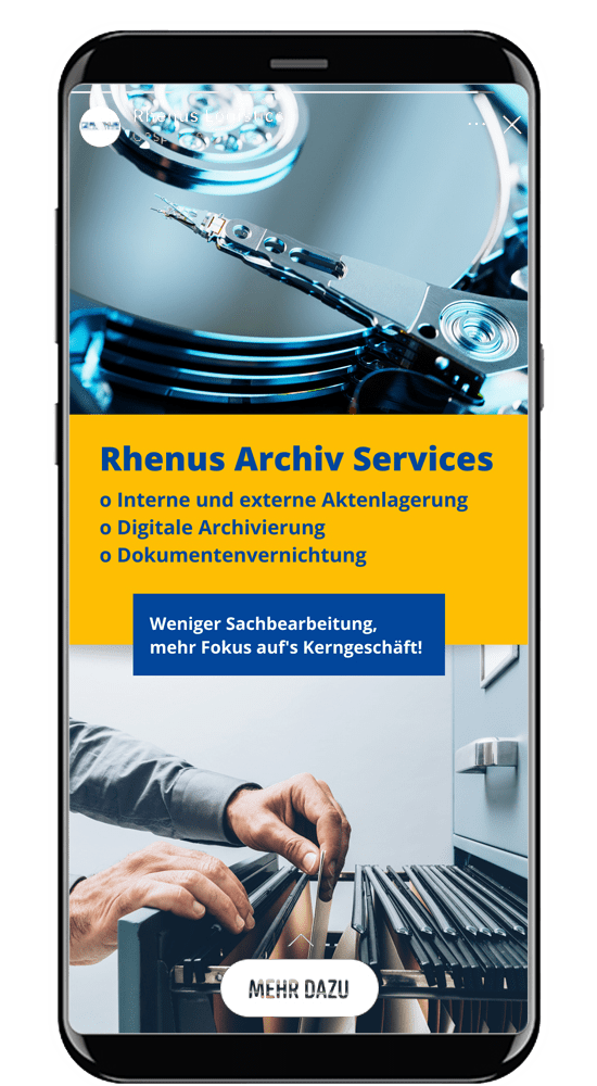 instagram story agentur rhenus warehousing