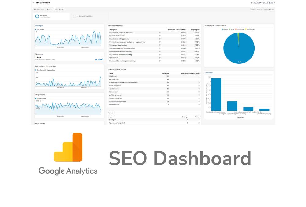 SEO Dashboard Google Analytics