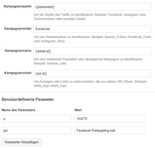 Facebook UTM Tracking