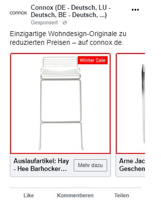 Facebook Ads Produktkatalogverkäufe