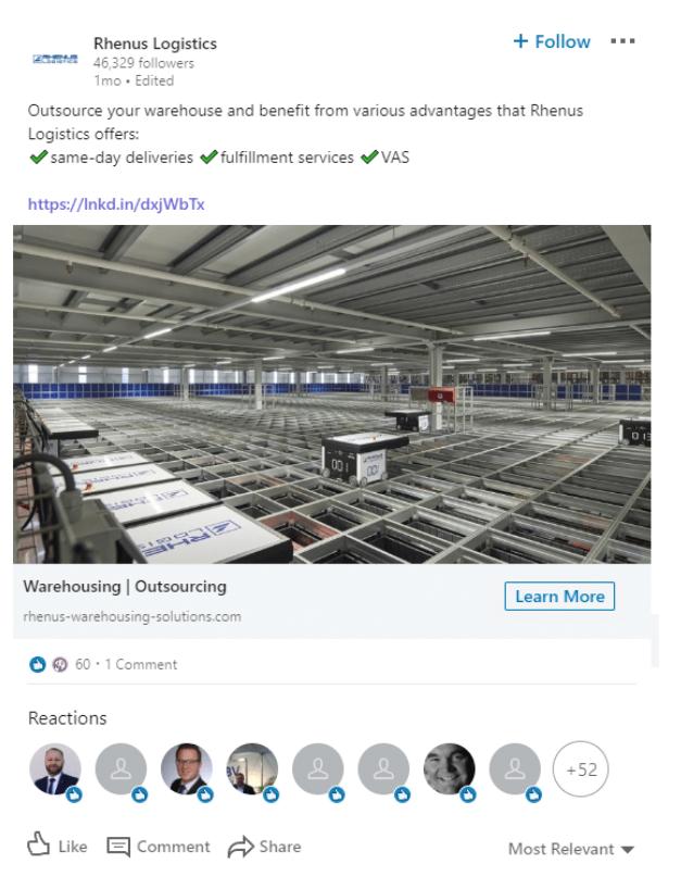 LinkedIn Anzeigen Beispiel