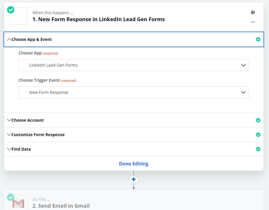 LinkedIn Leads Zapier