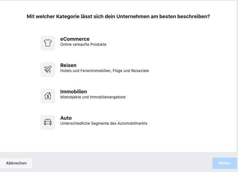 Facebook Produktkatalog erstellen