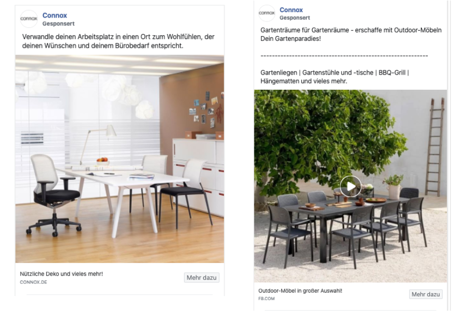 Facebook Ads Texte