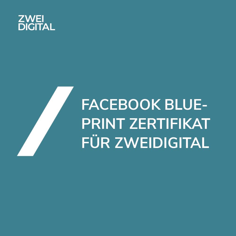 Facebook Blueprint Zertifikat für ZweiDigital