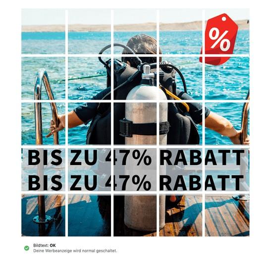 Facebook Werbeanzeigen Text im Bild