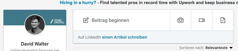 Content Creation auf LinkedIn