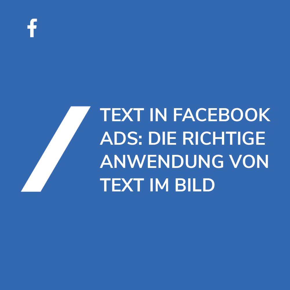 Werbeanzeigen Text im Bild