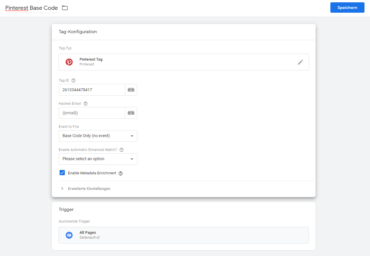 pinterest tracking google tag manager 1