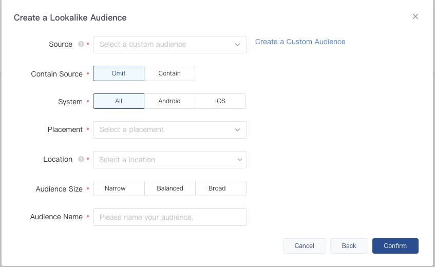 Create a Look Alike Audience TikTok