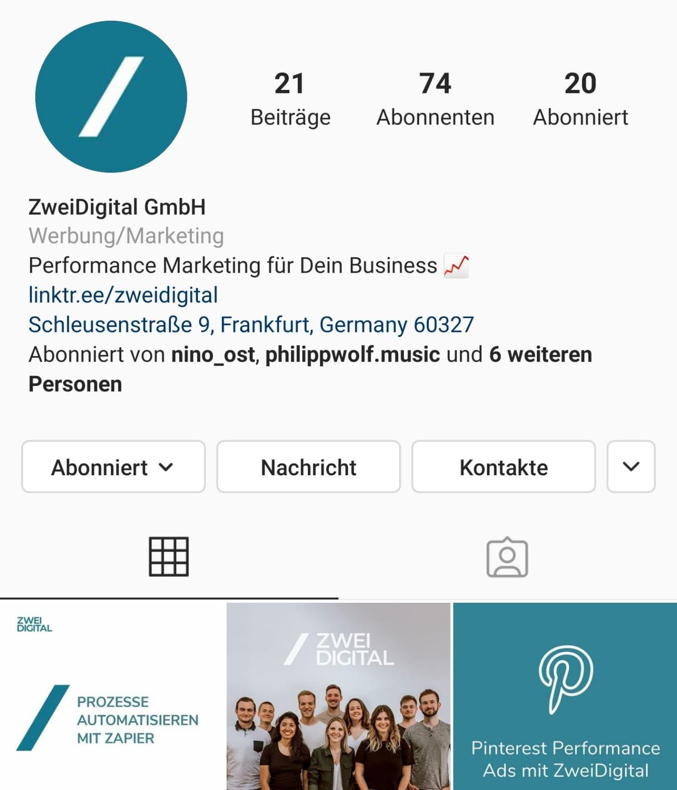 Instagram Marketing Tipp 1