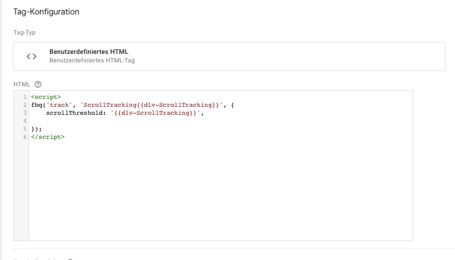 Scrolltiefe HTML-Tag