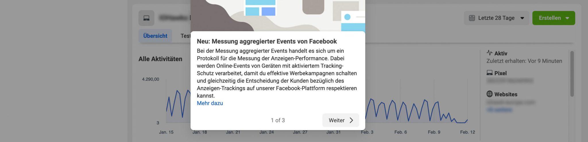 facebook messung aggregierter Events