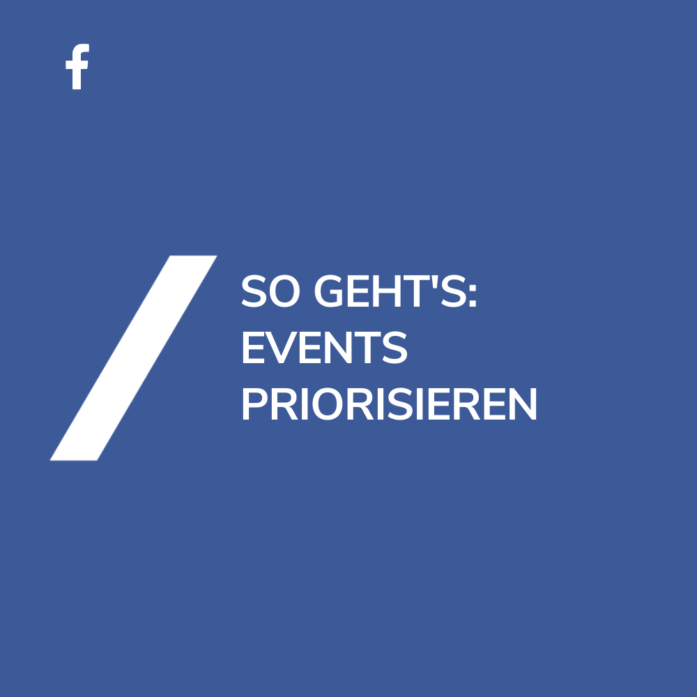 Event Manager priorisieren