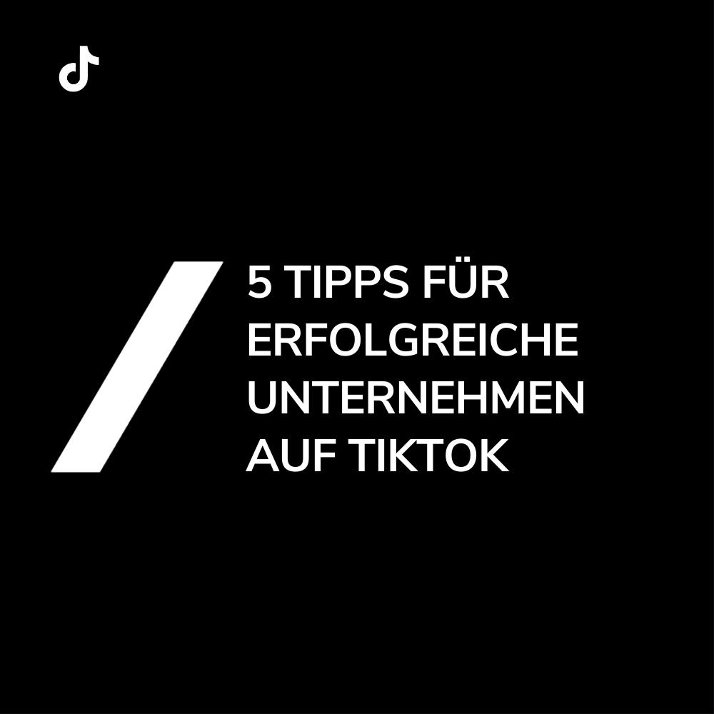 Titel 5 Unternehemnstipps TikTok