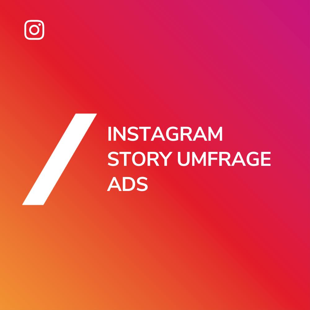 Instagram Story Umfrage Anzeige