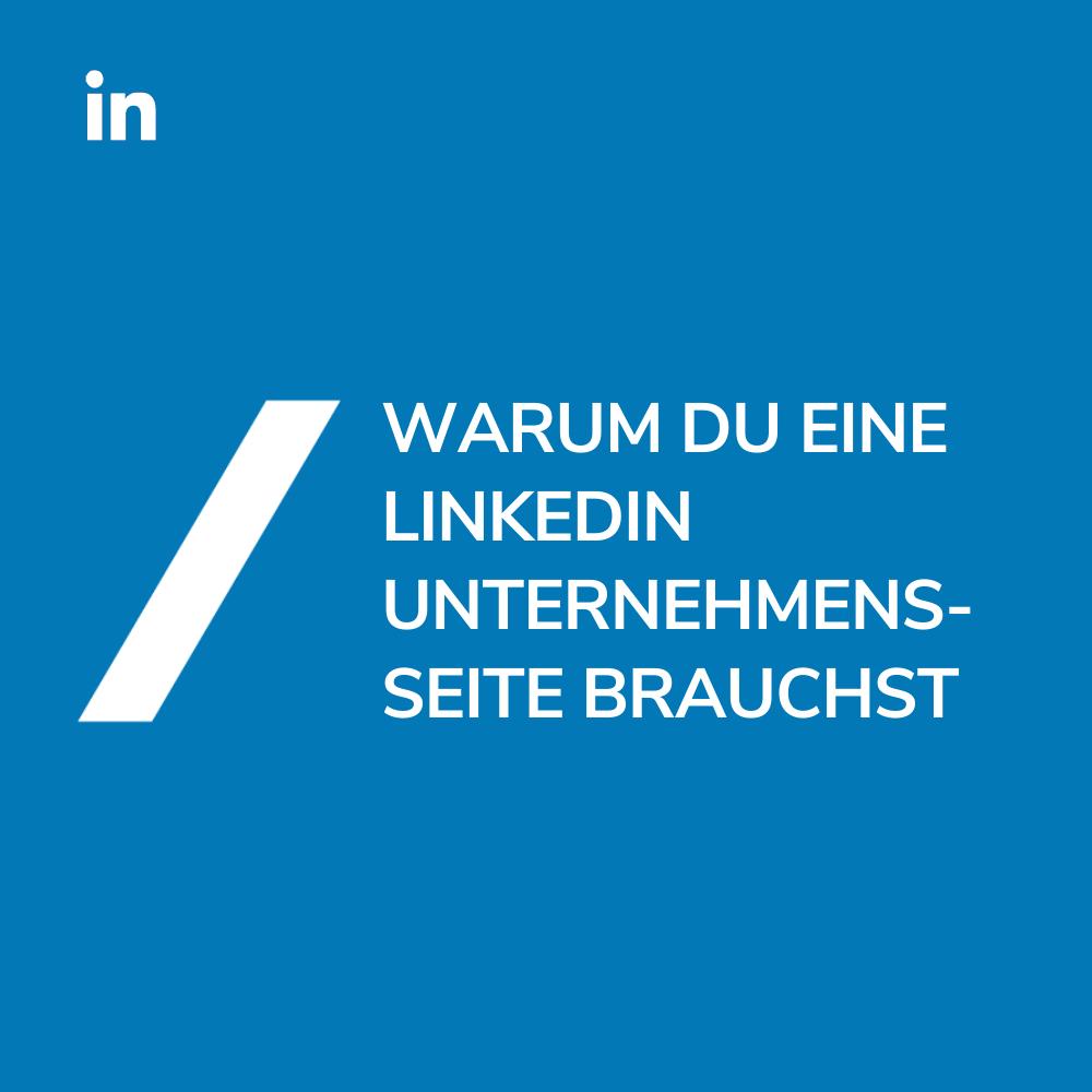 LinkedIn Unternehmensseite