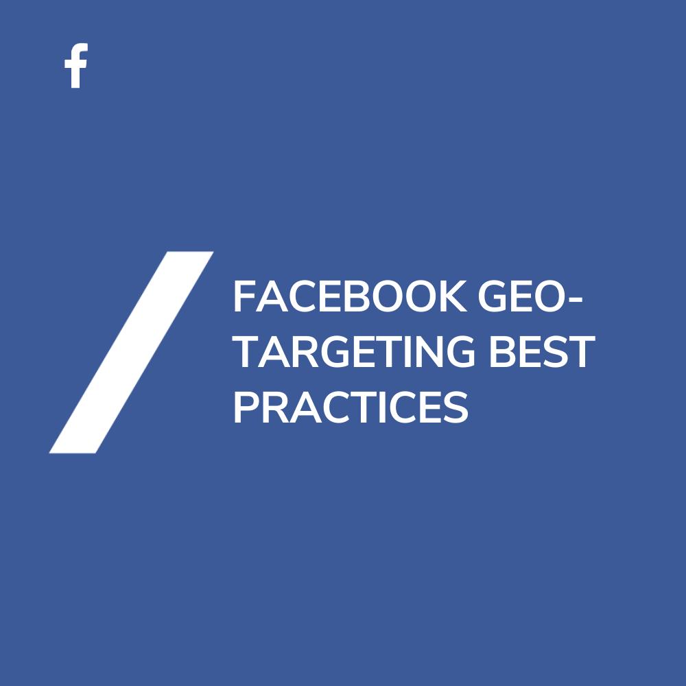 Facebook Standort Targeting Geo Targeting