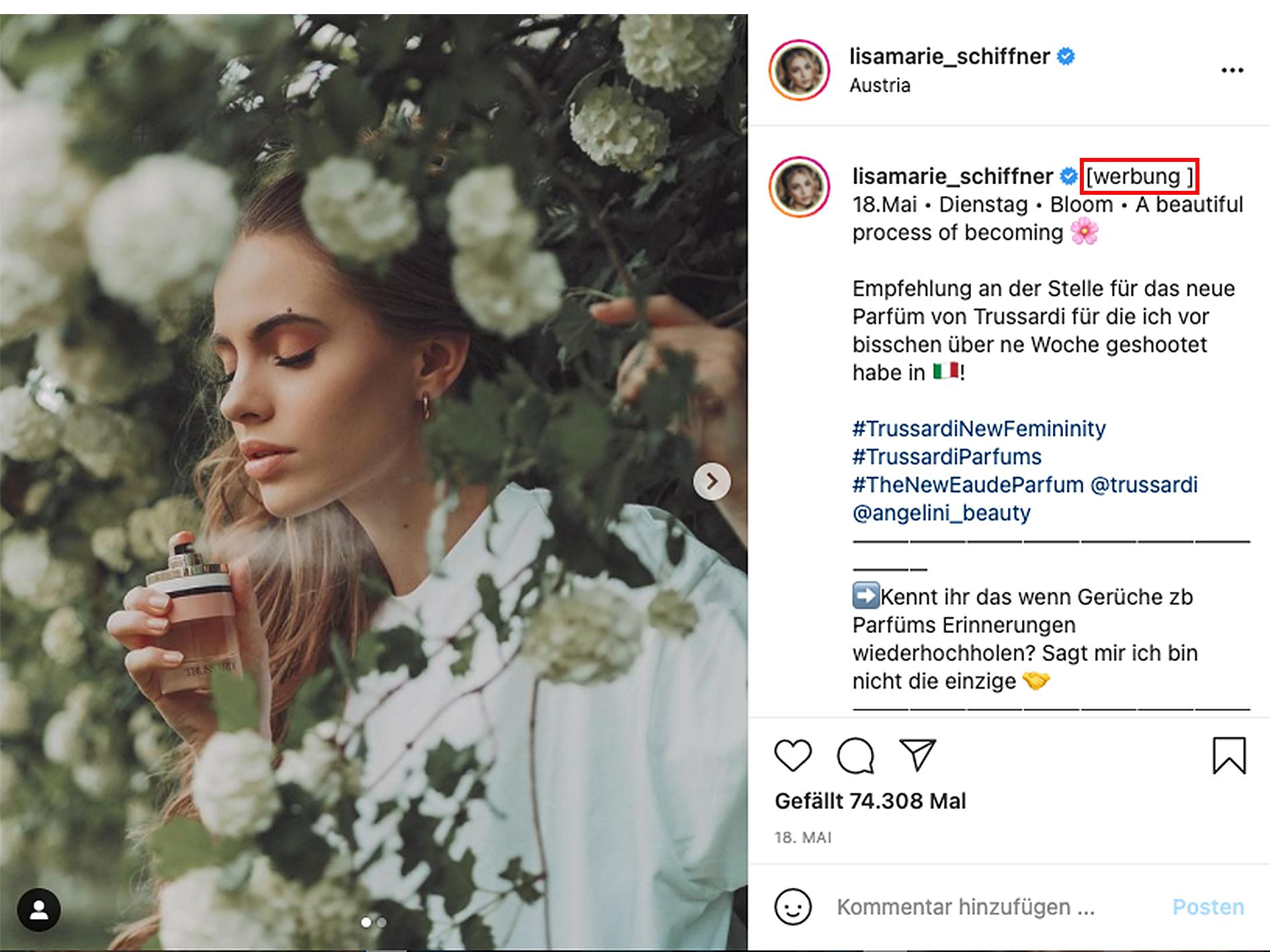 Werbung kennzeichnen Instagram